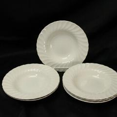 Churchill Chelsea Rim Soup Bowls All White 8.75