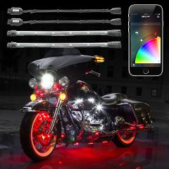 XKGlow KS-MOTO-ADVANCE Xkchrome 10-Pod/8-Strip App Control Mot...