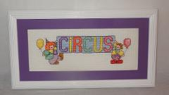 New Circus Baby Nursery Picture Finished Cross Stitch U.S.A. ...