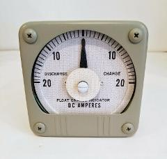 YOKOGAWA AMPMETER FLOAT CHARGE INDICATOR AMPERES 20-0-20 DC AM...