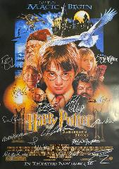 HARRY POTTER SORCERER'S STONE MOVIE Poster Signed by 16 with C...