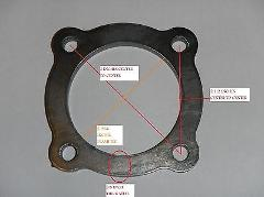 EXHAUST UPGRADE TURBO OUTLET FLANGE PLATE Scout II SD33 SD33T ...