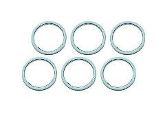 Set of 6 Honda New K&L Exhaust Pipe Muffler Header Gasket Seal...