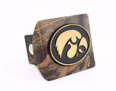 Iowa Hawkeyes Gold Camo Hitch Cover
