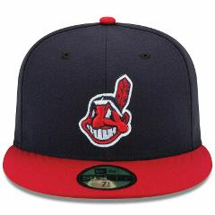 Mens Cleveland Indians New Era Navy/Red Authentic 59FIFTY Fitt...