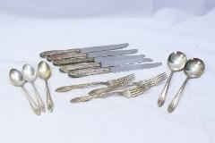 Wm A Rogers A1 Plus Oneida Silverplate Lot of 13 Spoons Forks ...