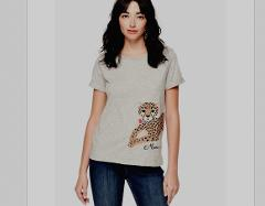 Kate Spade Leopard Meow Broome Street Graphic T-Shirt Small Ne...