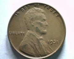 1931 LINCOLN CENT PENNY CHOICE ABOUT UNCIRCULATED CH. AU NICE ...