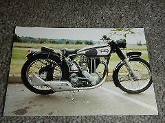 OLD VINTAGE MOTORCYCLE PICTURE PHOTOGRAPH NORTON BIKE #2