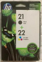 HP 21 / HP 22 Genuine C9509FN Ink Cartridges C9351AN & C9352AN...