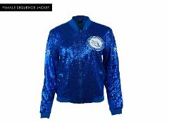 ZETA PHI BETA SORORITY JACKET BLUE SEQUENCE LIGHTWEIGHT JACKE...