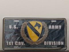 United States Army 1st Cavalry Division Embossed License Plate