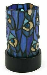 Small/Keepsake Stained Glass Paragon Cremation Urn w/LED - Pea...