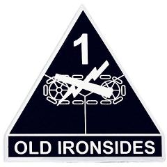 1st Armored Division Car Emblem