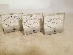 Weschler Motor Panel Meters, set of 3 - Current%, Speed%/Hz, VAC