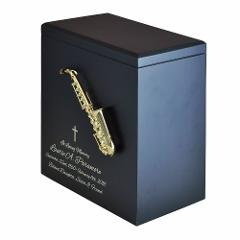 Large/Adult 200 Cubic Inches Saxophone Wood Funeral Cremation ...
