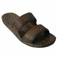 Pali Hawaii Sandals Dark Brown Rubber Slip On Slide Jesus Shoe...
