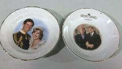 Lady Diana Prince Charles Wedding Fenton Bone China Small Plat...