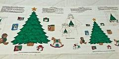 Christmas Trees Bears Presents Appliques VIP Cranston Fabric P...