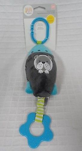 NEW Baby CARTER'S Just One You Rocket Dog Chime &Chew teether hang toy stroller