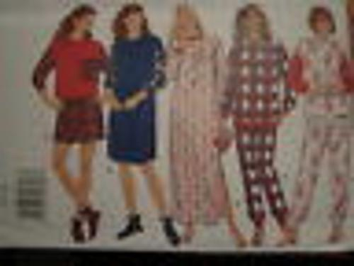 3704 Vintage Butterick SEWING Pattern Misses PJs Nightshirt Booties Pajamas