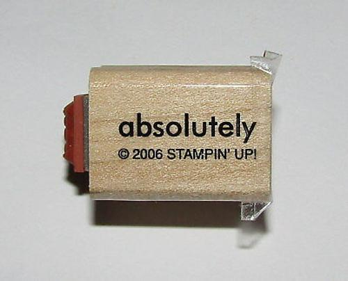 Absolutely Best Rubber Stamp Mini Words Stampin Up Two-In-One WM 1