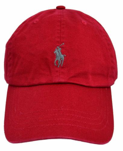 e07430c0aac2a4 Home>; Clothing, Shoes & Accessories>; Men's Accessories>; Hats. Polo Ralph  Lauren Polo Ralph Lauren Red w/ Limited Gray Pony Core Classic Chino  Baseball ...