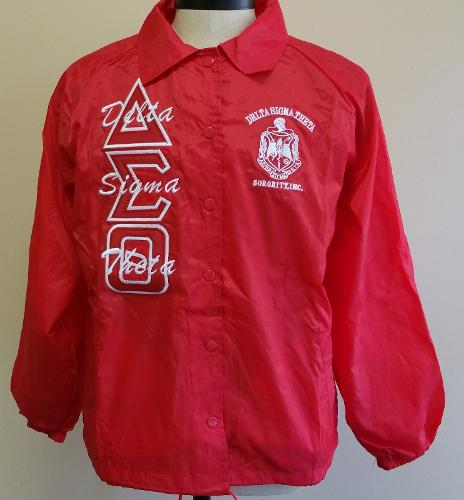 Delta Sigma Theta Sorority Line Jacket 1913 Fortitude Red Crossing Line Jacket