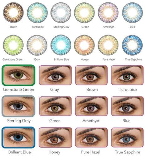 8f12888f9e99 Freshlook Colorblends Blue Color Cosmetic Colored Contact Lenses 0.00