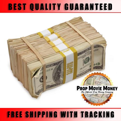 $50,000 Aged Blank Filler Stacks Prop Money Bundle For Movies, TV, Music Videos