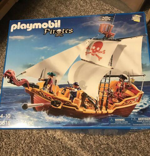 NEW - PLAYMOBIL #5618 Red Serpent Pirate Ship Playmobile