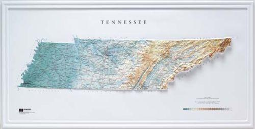 4 Off On Tennessee State Raised Relief Map Raven Style Pottery