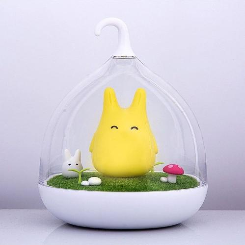 Cute Totoro Portable LED Night Lamp with Touch Sensor and USB cable