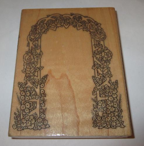 Rose Arch Trellis Rubber Stamp Large 4.5