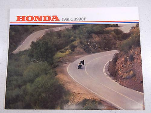 81 HONDA CB900F NOS OEM DEALER'S SALES SHEET LITERATURE BROCHURE