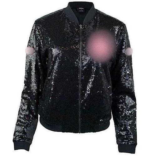 DELTA SIGMA THETA SEQUIN JACKET BLACK DELTA SIGMA THETA CASUAL EVENING COAT