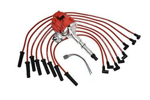 HEI DISTRIBUTOR 65K RED SPARK PLUG WIRES AMC JEEP 67-90 290 304 343 360 390 401
