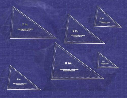 Laser Cut Quilt Templates- 6 Piece Triangle - Clear Acrylic 1/8