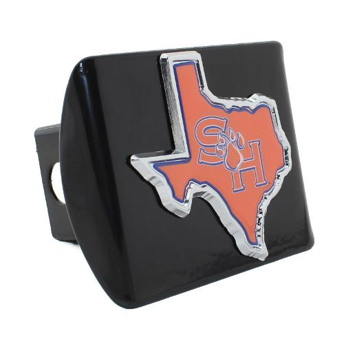 Sam Houston State Black Metal Hitch Cover