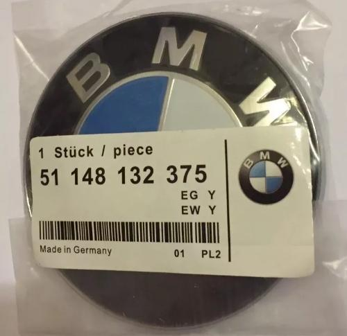 BMW 82mm Replacement Bonnet Hood badge for e61 e81 e90 e91 e92 x5 e46 e60