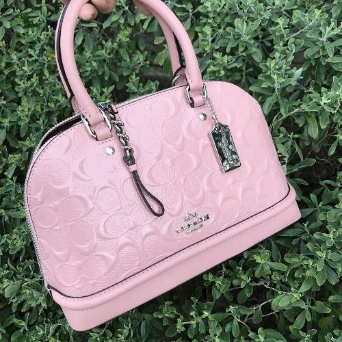 NWT COACH F27597 MINI SIERRA SATCHEL HANDBAG BAG PATENT LEATHER $325 Petal