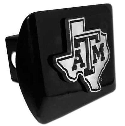 Texas A&M (TX Shape Debossed) Black Hitch Cover