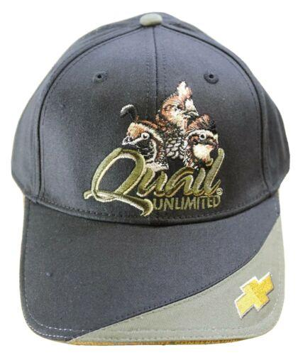Quail Unlimited / Chevrolet Chevy Logo Embroidered Baseball Hat -Black