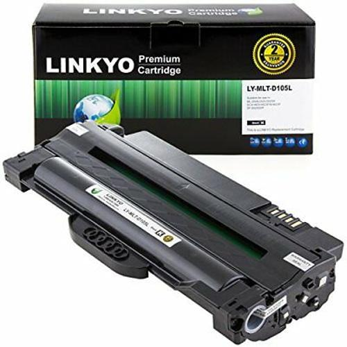 LINKYO Compatible Toner Cartridge Replacement for Samsung MLT-D105L Black