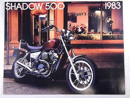 83 HONDA VT500C SHADOW 500 NOS OEM DEALER'S SALES SHEET LITERATURE BROCHURE