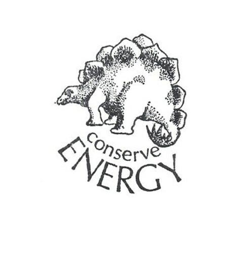 Conserve Energy Rubber Stamp Dinosaur Graphistamp Vintage Wood Mounted 2