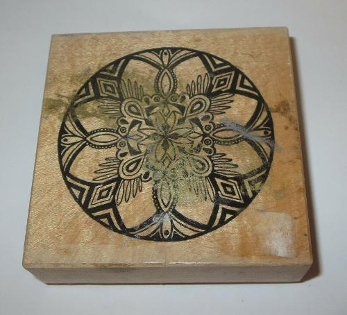 Ornate Christmas Ornament Rubber Stamp PSX Ball Wood Mounted Rare 3