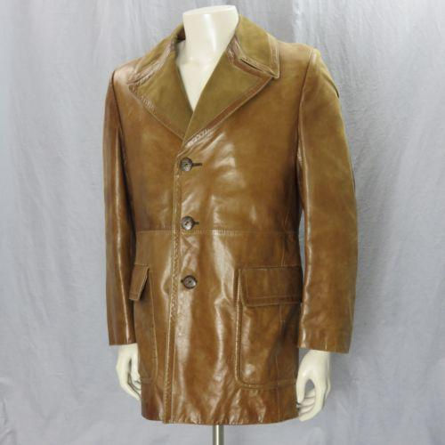 68eedcbe5284 Cortefiel Brown Leather Jacket Sz 40 Long Coat Soft Lining Vintage Made In  Spain