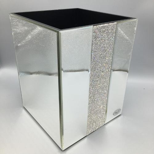 5 Off On Bella Lux Mirror Rhinestone Crystal Wastebasket