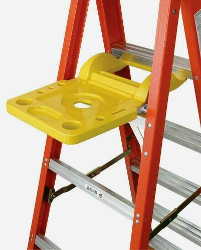 Werner PAIL SHELF For Ladder Yellow 1 pk Spill-Proof Automatically Closes 76-2